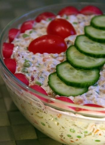 """Polska sałatka jarzynowa"" - diced veggie salad with mayo -  A dish for every holiday!"