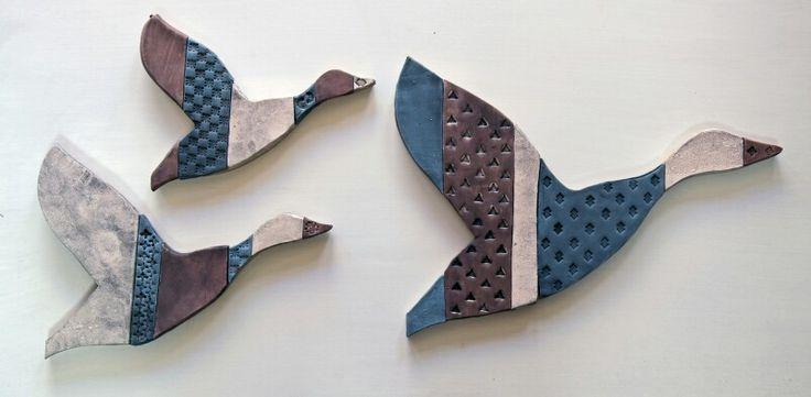 Ceramic ducks by Glen Colechin