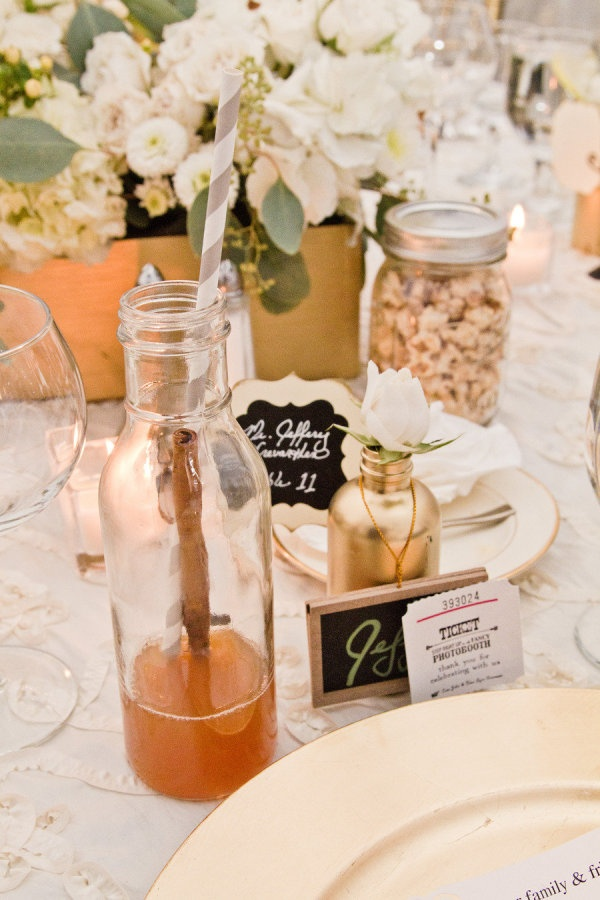 Photography by jana-williams.com, Event Planning by inviteddesignstudio.com, Floral Design by susannesweddings.comApples Cider, Tables Sets, Inviteddesignstudio Com, Floral Design, Apple Cider, Milk Bottle, Design Studios, Style Me Pretty, Events Plans