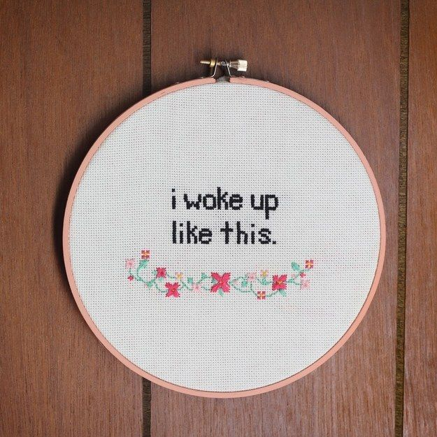 Beyoncé Cross-Stitch | 41 DIY Gifts You'll Want To Keep For Yourself