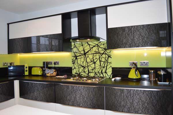 Glass Kitchen Splashback by CreoGlass Design (London, UK). View more glass kitchen splashbacks and non-scratch worktops on www.creoglass.co.uk. #kitchen #kitchensplashbacks