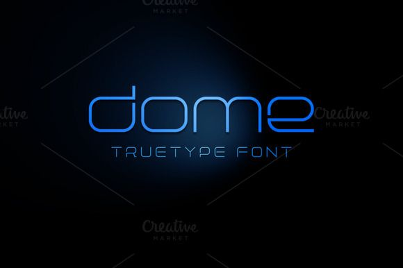 Check out Dome TrueType Font by alphadesign on Creative Market