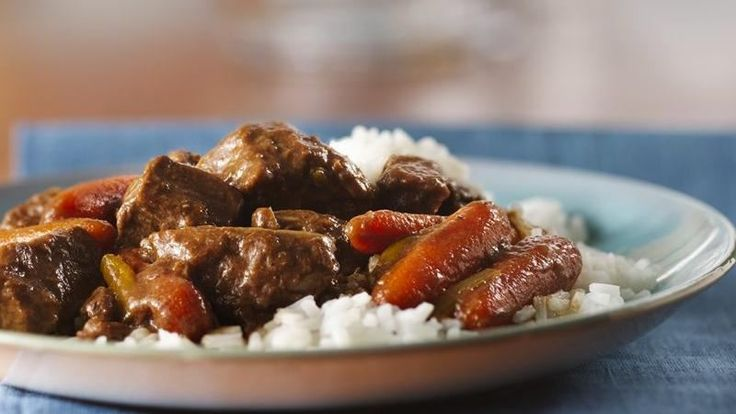 Fill the slow cooker in just 10 minutes in the morning, and this Asian-inspired beef stew will be ready when you get home from work. All you'll need to do is cook the rice!