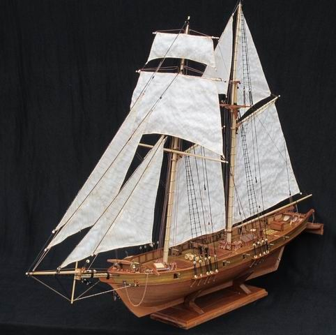 Free shipping Scale 1/96 Classics Antique wooden sail boat model kits HARVEY 1847 wooden Ship Assembly kit