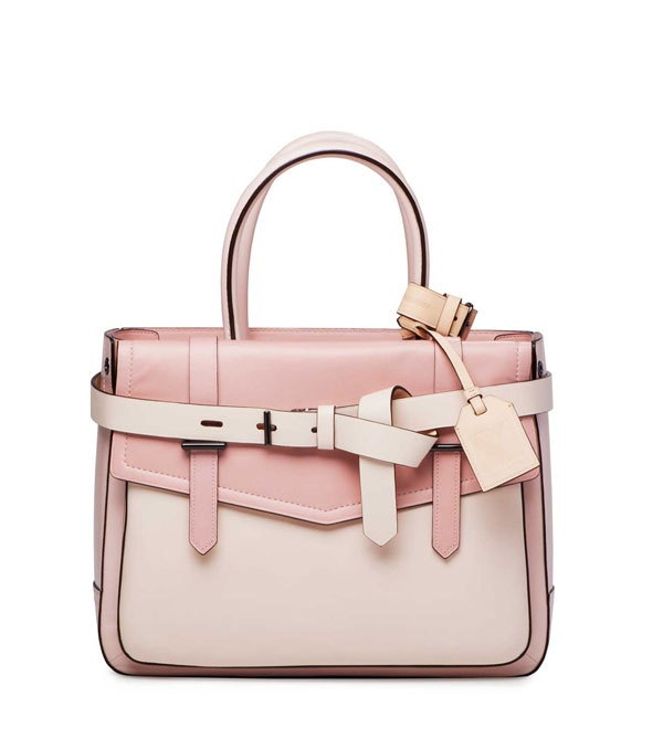 Reed Krakoff Boxer tote in blush nude and cream, exclusive to NYC Saks in the U.S.