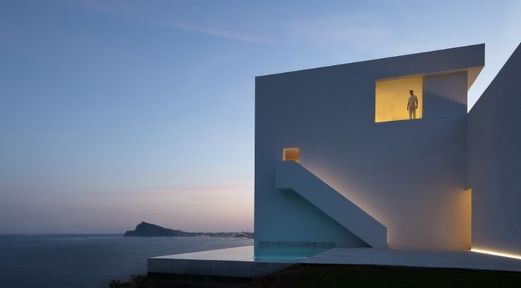 House on Cliffside  Alicante, Spain     A project by: Fran Silvestre Arquitectos     Architecture