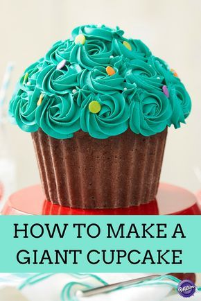 How to Make a Giant Cupcake - Learn the tips and techniques to making the perfect giant cupcake  including answers to the most frequently asked questions about making this popular cake.