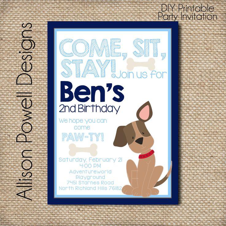 the 25+ best dog birthday parties ideas on pinterest | puppy party, Birthday invitations