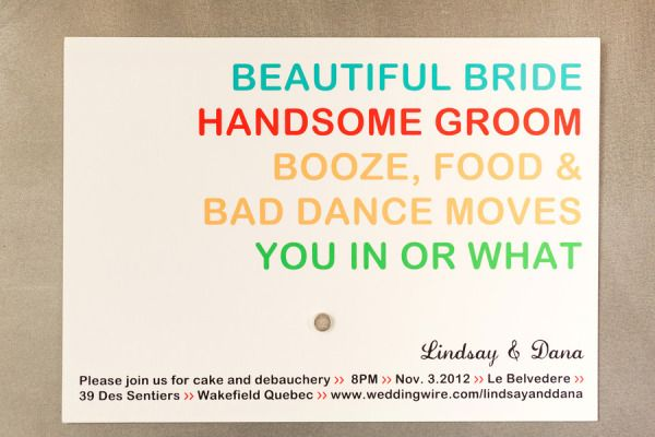 Cute & original #wedding #invitation. Photography by troystlouis.com, Invitations by printablepress.com