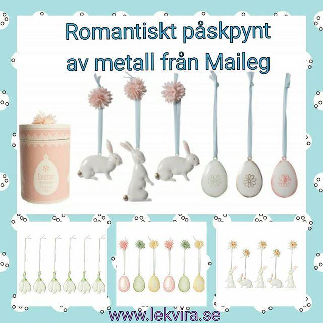 Romantiska hängen av metall att förgylla påskpyntet med. Hållbara och såå fina  Fina förpackningar att förvara dem i. Kommer i 5-6 pack för 189-199 kr Hos www.lekvira.se  Samt i vår butik i Kristianstad  Välkommen  #lekvira #maileg #påskägg #påskpynt #kristianstad #leksaksbutik #påskhare #vår