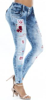Jeans levanta cola WOW 86321 Azul