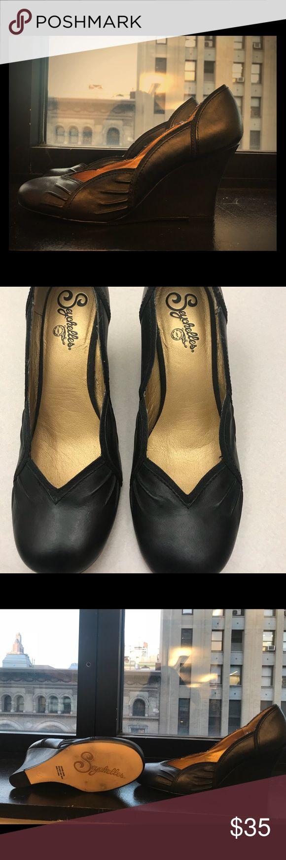 Black Seychelles Wedge Shoes Black Seychelles Wedge only worn once Seychelles Shoes Wedges