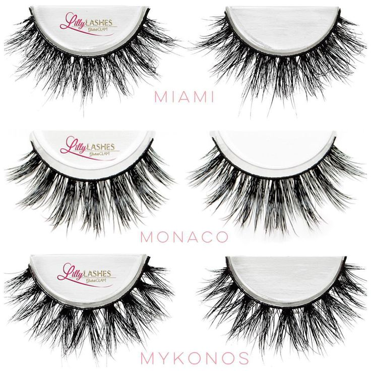 """My 3 Favorite 3D Mink @LillyLashes are finally restocked  1. """"Miami""""- Fluttery lash glam 2. """"Monaco""""- A more dramatic Miami 3. """"Mykonos""""- All out drama!!  Grab your 3D Mink pair at @LillyLashes .com before they sell out again!! #GhalichiGlam"""