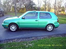 Image result for green volkswagen golf 1995