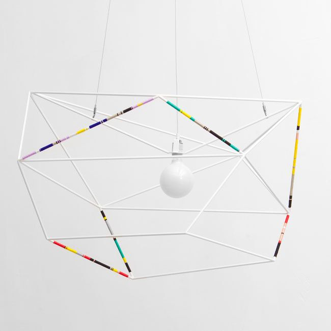 Threaded wire light by Iacoli & McAllister