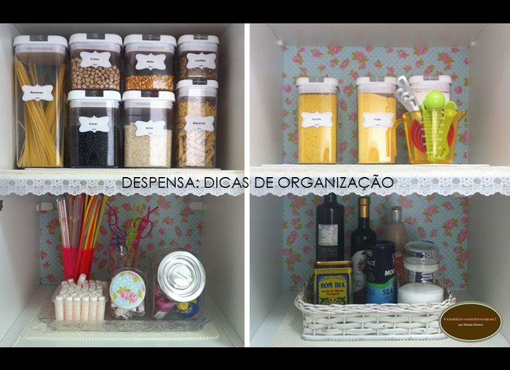 Organize sem Frescuras | Rafaela Oliveira » Arquivos » Vídeo: Organizando a minha despensa