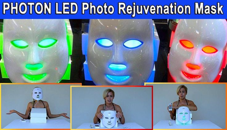 Pro Nu Led Light Therapy Photo Rejuvenation Facial Mask