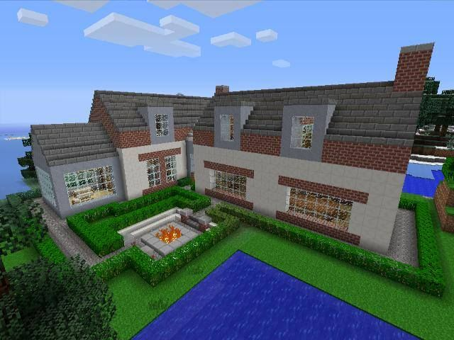 Minecraft gaming xbox xbox360 house #home creative mode mojang barn modern house home bungalow
