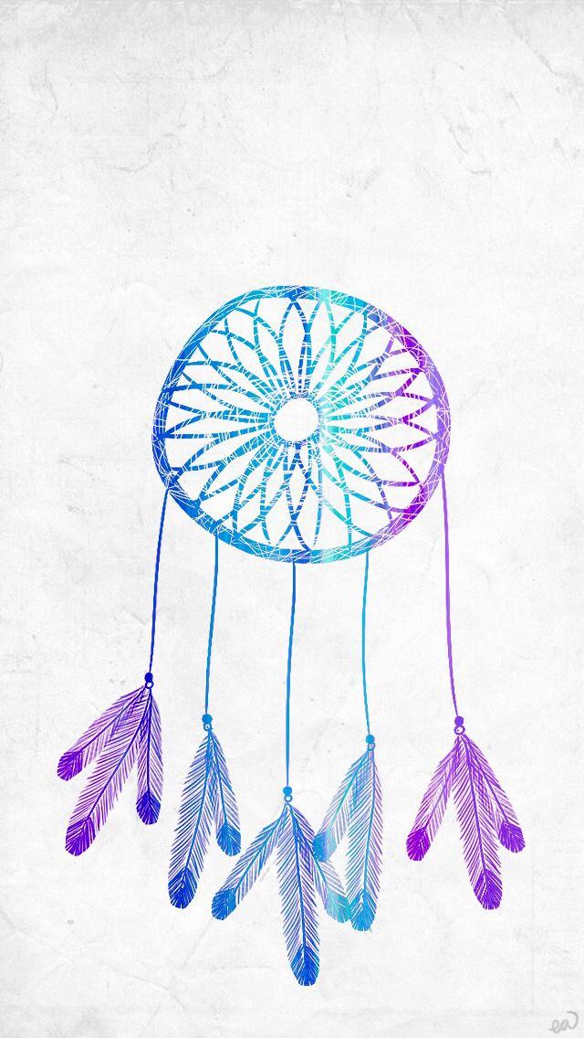 ombre blue dreamcatcher dream catcher tumblr iphone