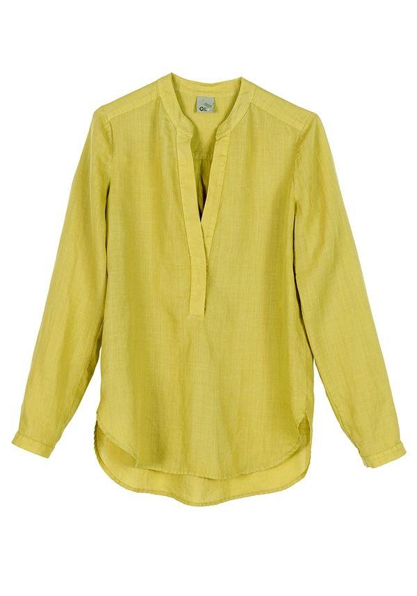 QL2 - HAZEL RAMIE' GARMENT DYED BLOUSE  ( A perfect day) #women's #fashion