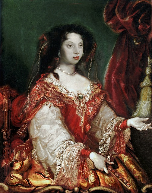 Maria Francisca of Savoy (Marie Françoise Élisabeth; 21 June 1646 – 27 December 1683) was twice queen consort of Portugal as the spouse of two Portuguese kings.  by the lost gallery, via Flickr