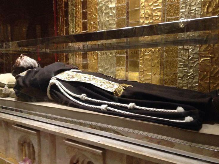 Padre Pio at the church of San Giovanni Rotondo, Italy
