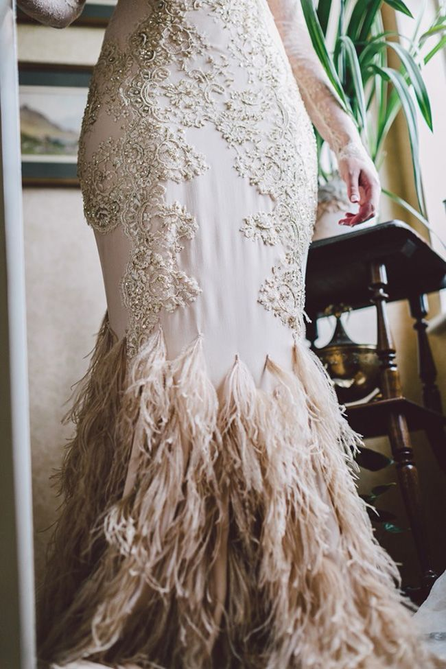 238 best Feather Wedding Dresses, Accessories and Decor images on ...