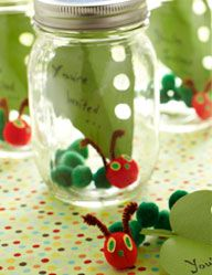 such a cute idea for birthday partiesKids Parties, Hungry Caterpillar Parties, Hungry Caterpillar Birthday, Party Invitations, Cute Ideas, Birthday Invitations, 1St Birthday, Eric Carl, Birthday Parties Invitations