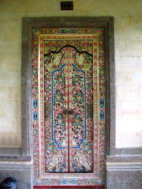 Balinese Door after our travels we now have one of these in the conservatry. & 987 best images about world doors \u0026 windows \u0026 gates on Pinterest ... Pezcame.Com