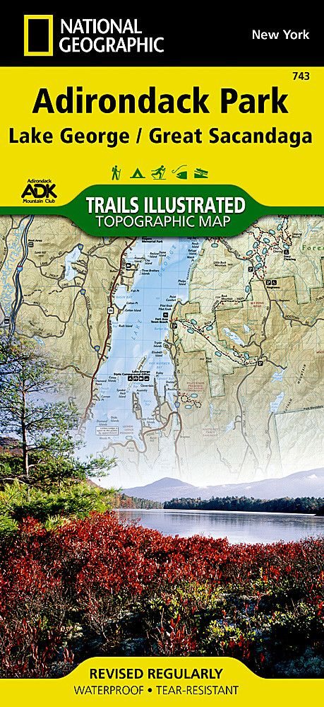 Lake George and Great Sacandaga Lake, Adirondack Park, Map 743 by National Geographic Maps