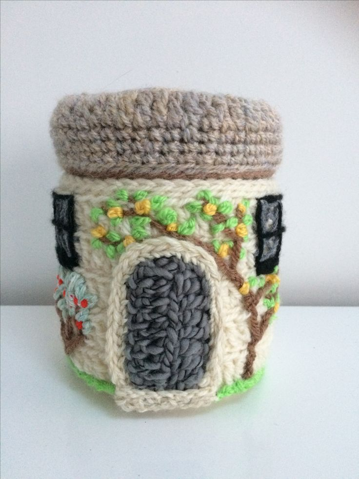 Kim's cottage - recycled hot chocolate pot.