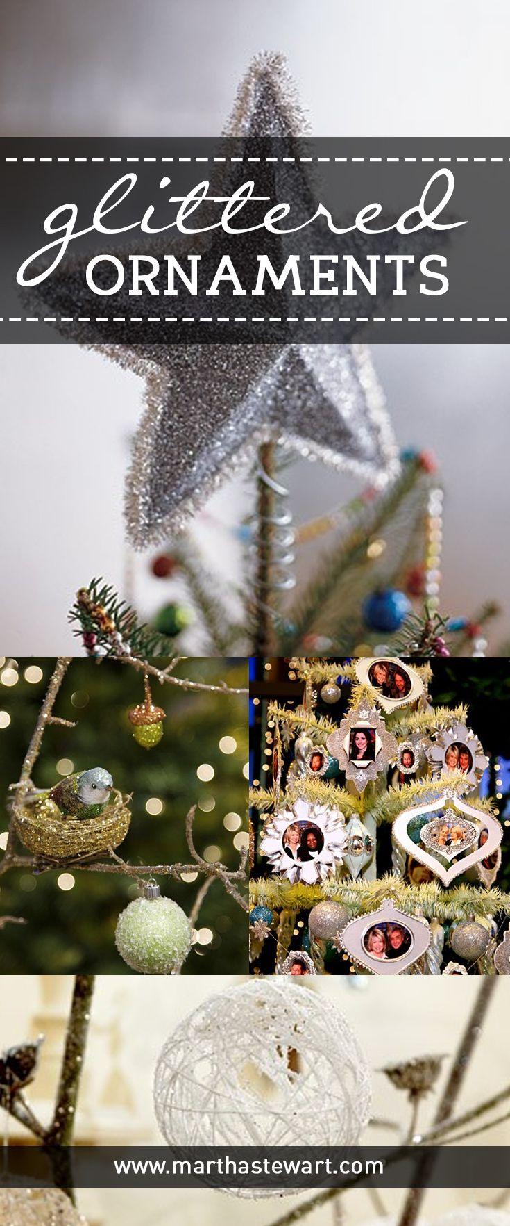 Einfache Dekoration Und Mobel Pantone Weihnachtskugeln #24: Glittered Christmas Ornaments