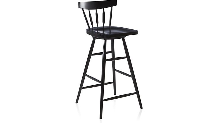Willa Swivel Black Bar Stool - Clearance for $119