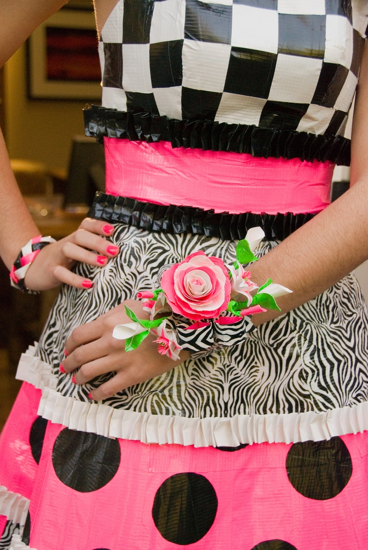 Stuck at Prom Scholarship Contest duct tape prom corsage