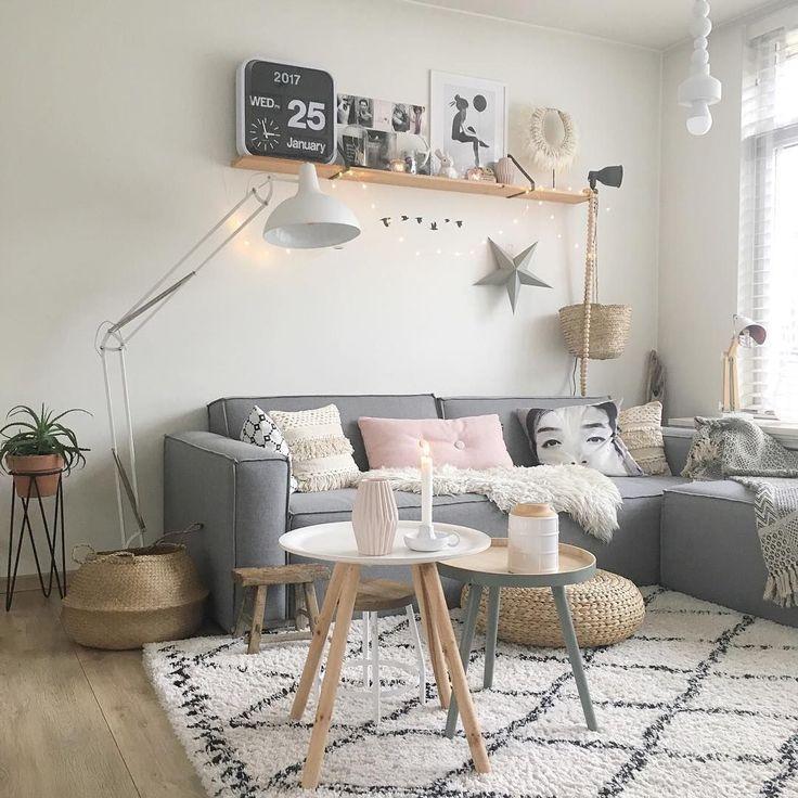 skandinavisches Wohnzimmer fr Zuhause skandinavisches