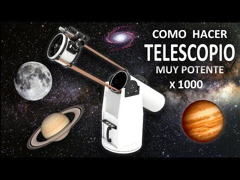 Como Hacer un Potente Telescopio Casero - (Experimentar En Casa) - YouTube