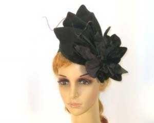 Winter fashion fascinator with flower buy online Australia F535