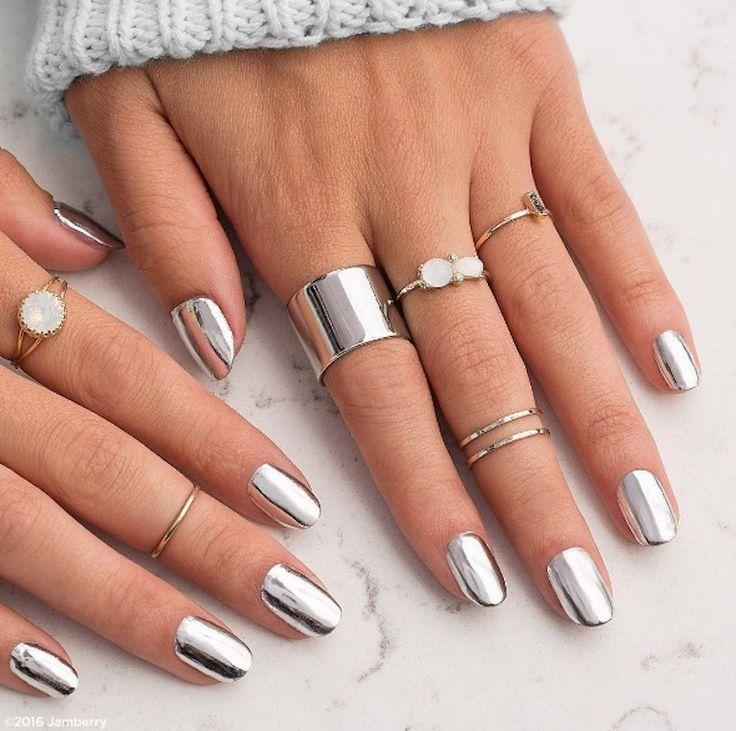 Jamberry: Metallic Chrome Silver Nails wraps