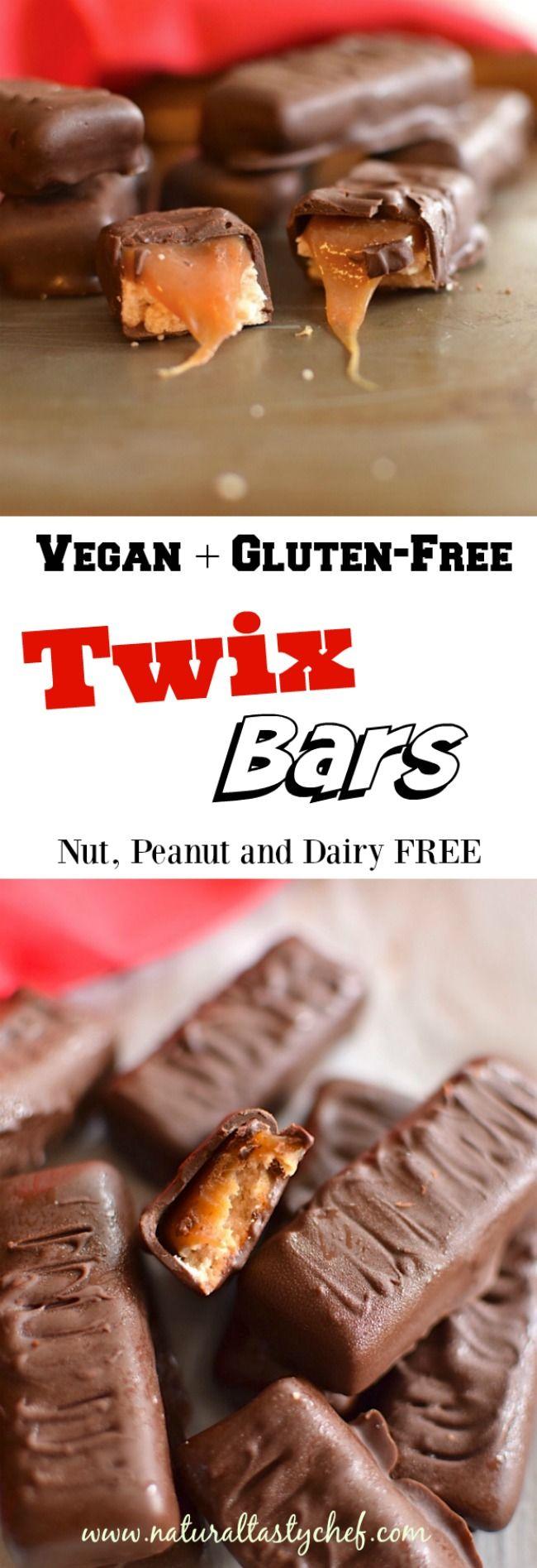 Vegan and Gluten Free Twix Bars