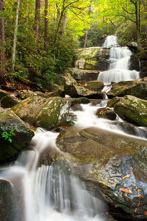 Laurel Falls in Great Smoky Mountains National Park.  Our first hike in the mountains.  We were rewarded with this waterfall!