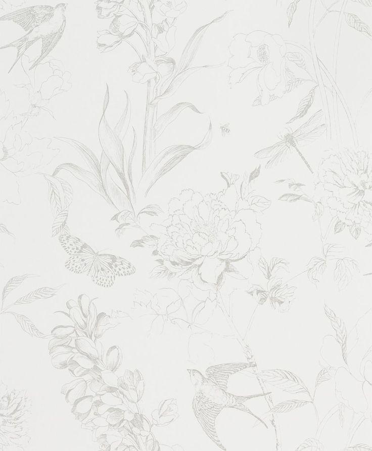 Designers Guild Sibylla Silver Wallpaper main image