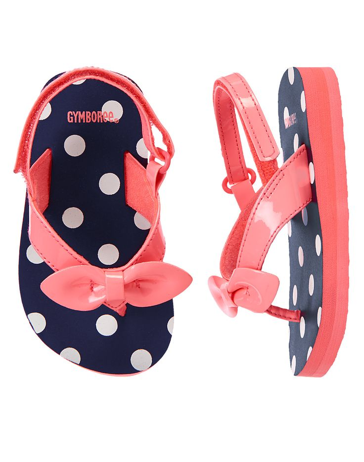Polka Dot Bow Flip Flops at Gymboree