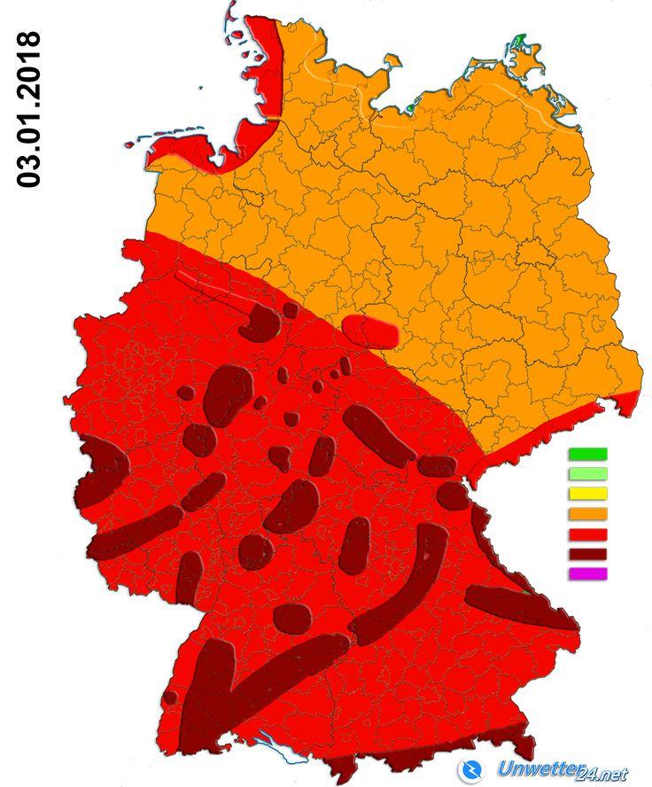 +++ So heftig wird die Orkanlage am Mittwoch +++  Am kommenden Mittwoch steht – wie seit einigen Tagen bekannt ist – eine Sturm- beziehungsweise Orkanlage an. Dabei könnte es in der Südwesthälfte Deutschlands zu einer Unwetterlage mit verbreitet heftigen Böen kommen.  #Unwetter #Sturm #Orkan #Regen #Graupel #Schauer #Gewitter #Wetter