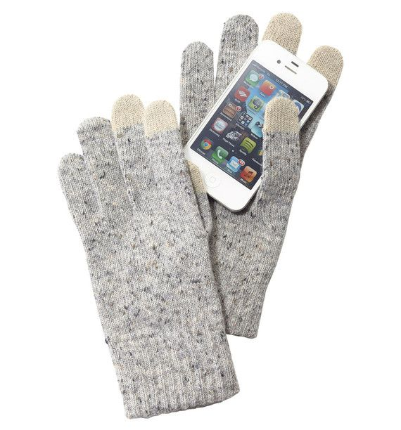 Warming Up to a Touch Screen, Even in the Cold..Muji's knitted Touchscreen Gloves let you keep your hands toasty while tweeting, texting or Tumbling in the cold