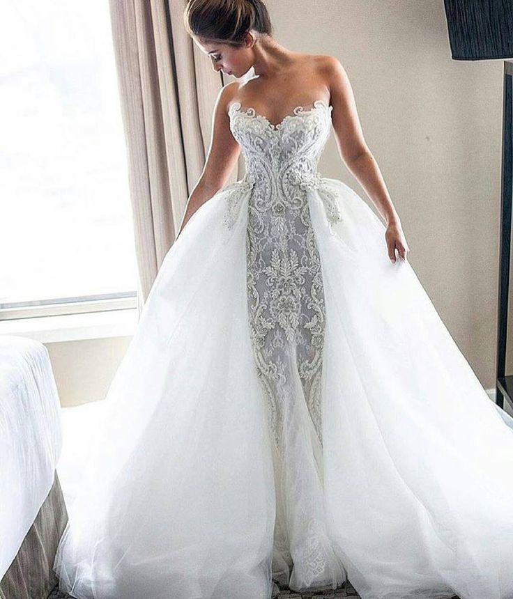 Heavily embellished #weddingdresses can be made for less with our USA based company - www.dariuscordell.com