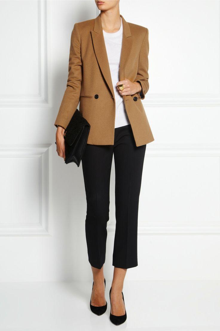 DKNY Wool-blend flannel blazer.