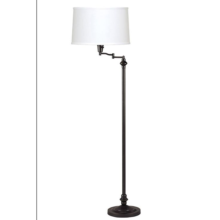 Shop Axis 59 In 3 Way Dark Bronze Torchiere Indoor Floor Lamp With Fabric