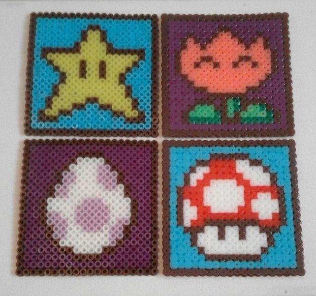 Super Mario Bros Hama Drinks Coaster Set £10.00