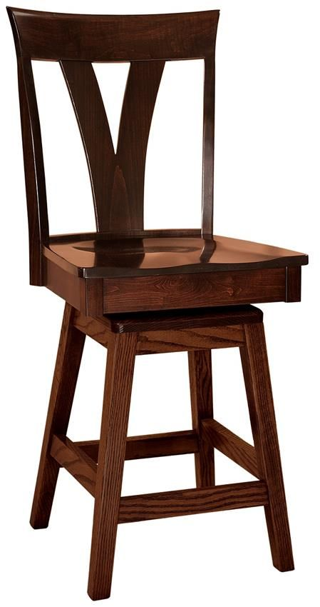 Amish Levine Contemporary Swivel Bar Stool Save space with the added height bar stool seating offers.