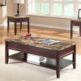 Homelegance Orton Poplar Faux Marble Coffee Table 3447 30
